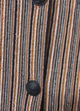 Юбка стильная в полоску на пуговицах pull&bear, новая!4 фото