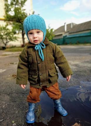 Комплект пальто+жилет 9-12м