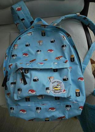 Крутой рюкзак с суши котиками cropp town скидка!!