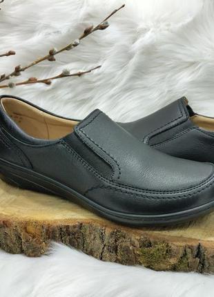 Кожаные туфли слипоны hotter glove ( 37.5 размер ) новые