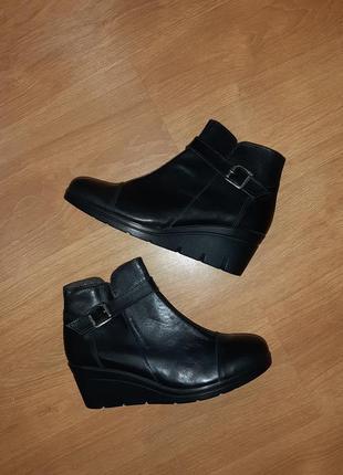 Стильные кожаные ботинки etery(испания)