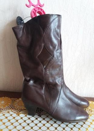 Кожанные сапоги деми-38р