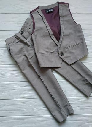 Комплект брюки и жилетка на мальчика 3-4 лет некст