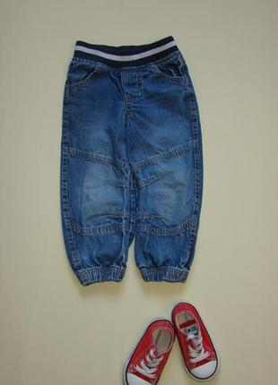 Стильные джинсы штаны джоггеры f&f 2-3 года 98 см