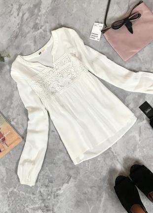 Вискозная блуза с кружевом для девочки  bl1910046  h&m