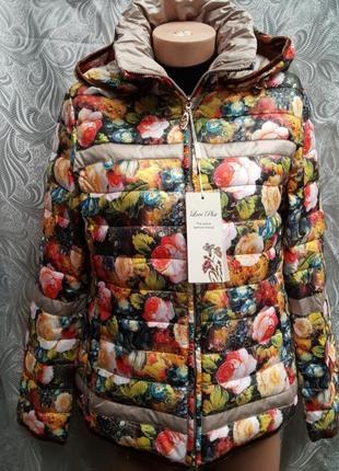 Демисезонная куртка plist , цветочный принт