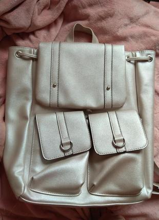 Нежный светло-розовый с блеском рюкзак