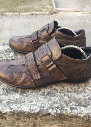 Оригинальные кожаные туфли, кроссовки geox respira1 фото