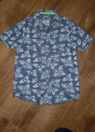 Рубашка rebel  на 8-9 лет