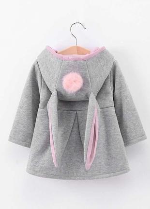 Пальто на теплую погоду с ушками
