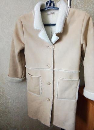Весеннее пальто курточка дублёнка для девочки