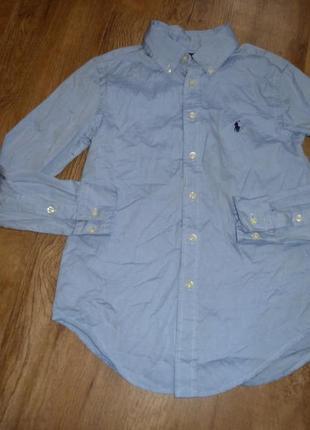 Льняная рубашка ralph lauren , оригинал, на 12 лет