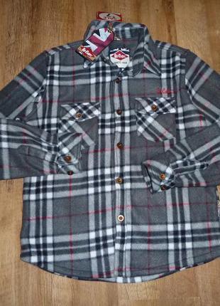 Теплая флисовая рубашка lee cooper на 13 лет, новая, с этикеткой