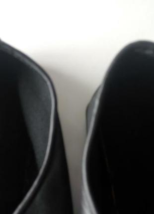 Кожаные танцевальные туфли чешки на шнурках тапочки унисекс5 фото