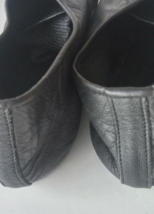 Кожаные танцевальные туфли чешки на шнурках тапочки унисекс6 фото
