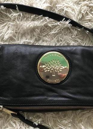 Крутой клатч/сумка/бренд mulberry номерная/оригинал/кожа