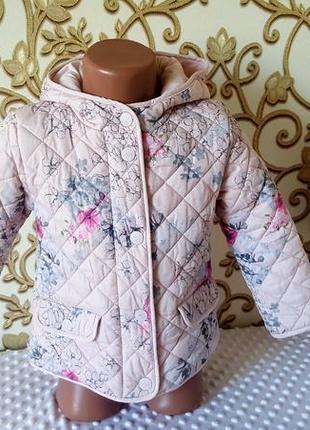 Стеганая куртка некст на двочку 3-4 год