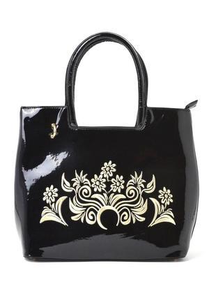 Женская лаковая сумка 8520-2