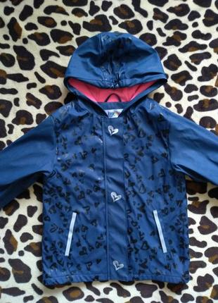 Куртка дождевик на флисе lupilu