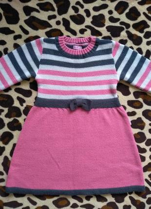 Вязаное платье для девочки лютик