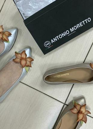 Балетки antonio moretto оригинал италия натуральная кожа 36-40