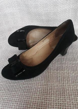Туфли-лодочки, натуральный замш