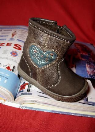 Stups (германия) кожаные деми весна-осень ботиночки 11,5 см.