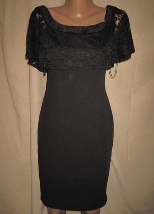 Платье с пелериной  jane norman р-р12