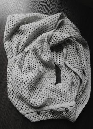 Вязаный шарф бафф сетка