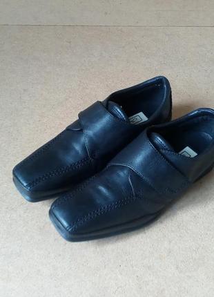 Мокасины туфли janet d кожаные черные на липучках мягкие