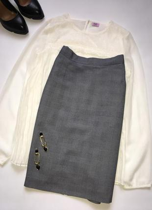 Стильная юбка карандаш в клетку