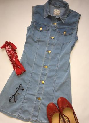 Крутой джинсовый сарафан в стиле 90х / джинсовое платье винтаж