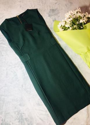 Изумрудное платье от massimo dutti s-m новое с биркой