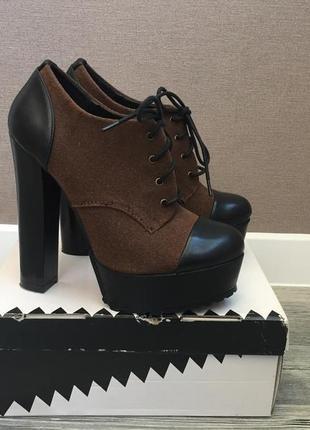 Демисезонные ботинки ботильоны на шнуровке