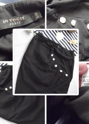 Новая трендовая асимметричная юбка с декоративными пуговицами