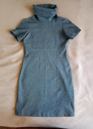 Офисное серое платье р м