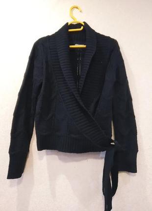 Модная шерстяная кофта с запахом на размер 48-50