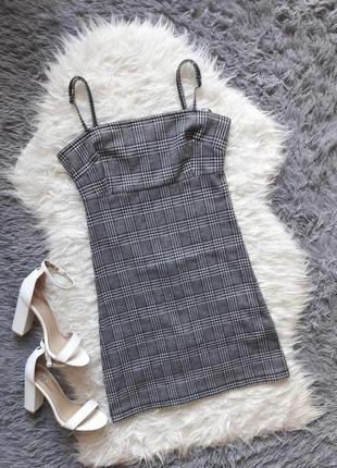 Клетчатый сарафан, платье