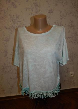 New look футболка укороченная стильная модная р14 новая
