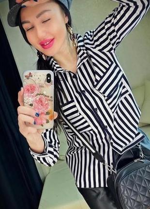 Блузка в полоску вразмерах