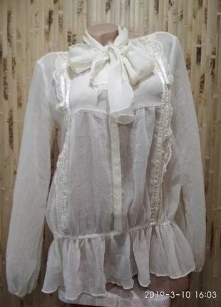 Шелковая воздушная блуза в бельевом стиле от morgan