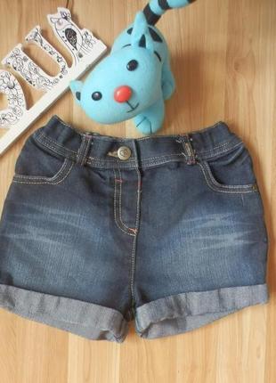 Фирменные джинсовые шорты george малышке 5-6 лет состояние новых.