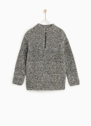 Новый теплый стильный свитер zara