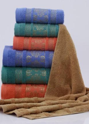 Комплект полотенце махровое банное  размеры65*135см  цвета микс  8 шт