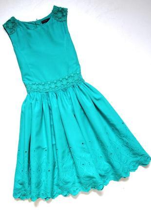 Marks& spencer. красивое хлопковое платье с пышной юбкой. 8-9 лет.