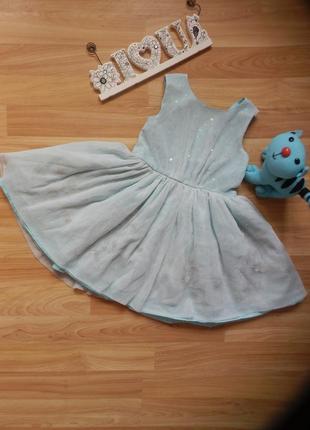 Фирменное нарядное платье bhs малышке 2-3 года состояние отличное.