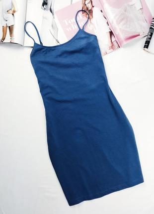 Платье на бретельках хлопковое платье базовое платье платье домашнее