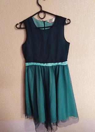 Платье цвета морской волны