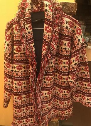 Весенне пальто бохо от zara