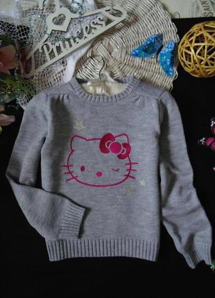 8лет.бомбезный свитерок hello kitty.mега выбор обуви и одежды!